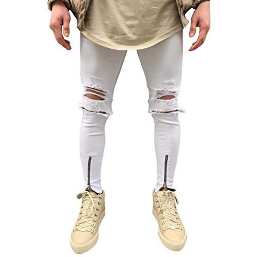 Denim Streetwear Jeans Estilo Fashion Da B Vintage Buco Slim Pantaloni Especial Strappati Hiphop Uomo Design Bucati Fit Moto 41qS7IwX