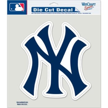 Wincraft MLB New York Yankees NY Color Die-Cut Decal, 8