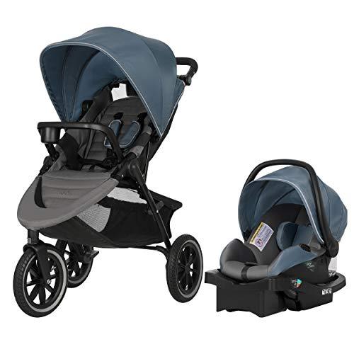 Evenflo Folio3 Stroll and Jog Travel System with LiteMax 35 Infant Car Seat (Skyline)