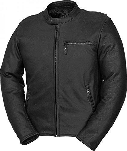 Fieldsheer Deuce Mens Leather Street Racing Motorcycle Jacket 48 Black