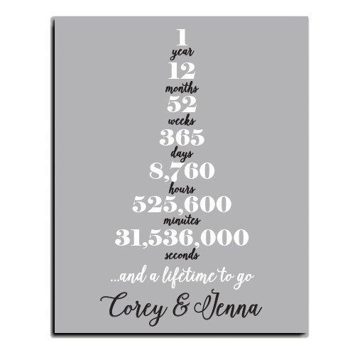 1 Year Anniversary Paper Art Print | Personalized Anniversary Print | Anniversary Gift | Paper Anniversary | Anniversary Gift for Wife | Anniversary Gift for Husband | First Anniversary