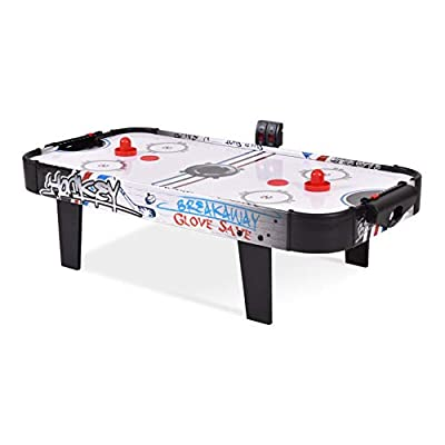 "K&A Company Air Hockey Tables, 42"" Air Powered Hockey Table Top Scoring 2 Pushers"