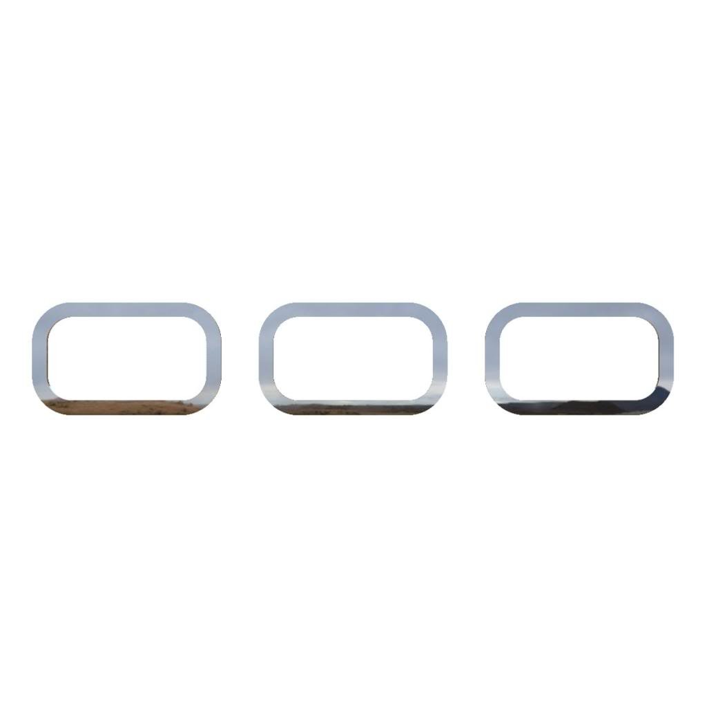 2003-2009 Hummer H2 OTH-100-09 Ferreus Industries Polished Stainless Rear Running Light Trim fits