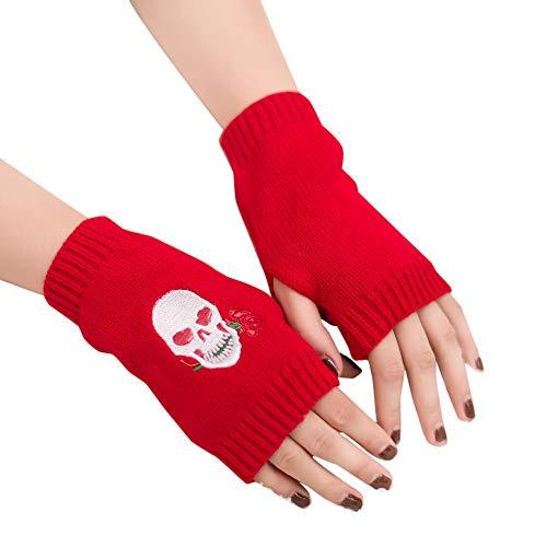 XOWRTE Womens Arm Fingerless Winter Warm Soft Knitted Gloves Mitten - Ssg Winter Mittens