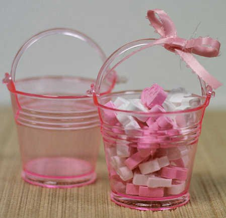 stic Favor Pails or Buckets - Package of 24 (Pink Mini Pails)