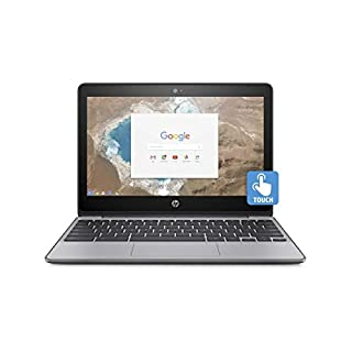 HP Chromebook 11.6in HD Touch Screen with IPS, Celeron N3060 @ 1.6GHz, 4GB RAM, 16GB eMMC, Gray (Renewed)