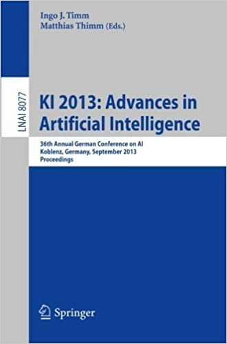 Book KI 2013: Advances in Artificial Intelligence: 36th Annual German Conference on AI, Koblenz, Germany, September 16-20, 2013, Proceedings (Lecture Notes in Computer Science) (2013-08-21)