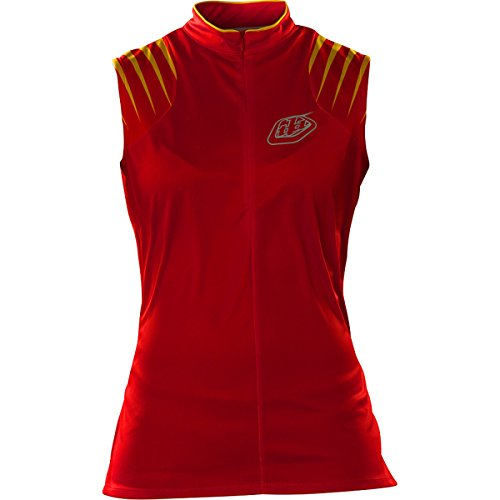 TROY LEE DESIGNS Red Maillot sans Manches Femme, Rouge, FR : M (Taille Fabricant : M)