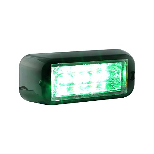 LAMPHUS CosmicRay CRLH06 LED Strobe Grille Flashing Lights [SAE Class 1] [72 Modes] [6 Watt] [Linear] [Weatherproof] Warning Lights for Police & Firefighter Emergency Vehicles - Green/White (Firefighter Green)