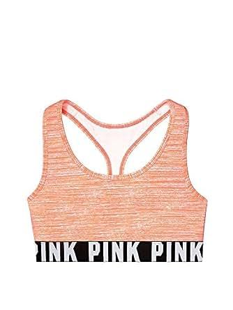 Victoria's Secret PINK Logo Racerback Bra Coral (Small)