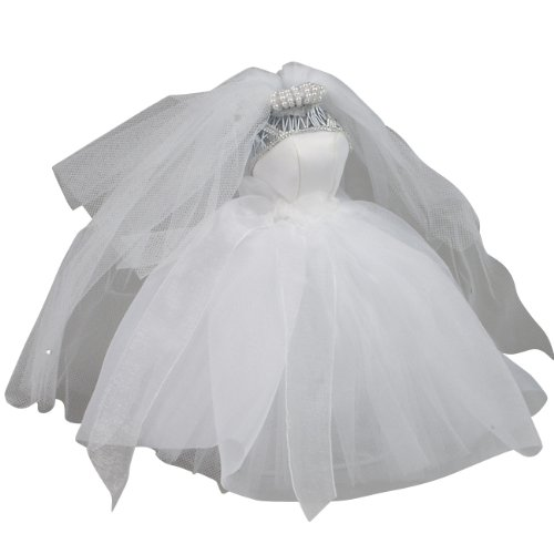 Ivy Lane Design Small Organza Dress Form, White (Bridal Miniatures)