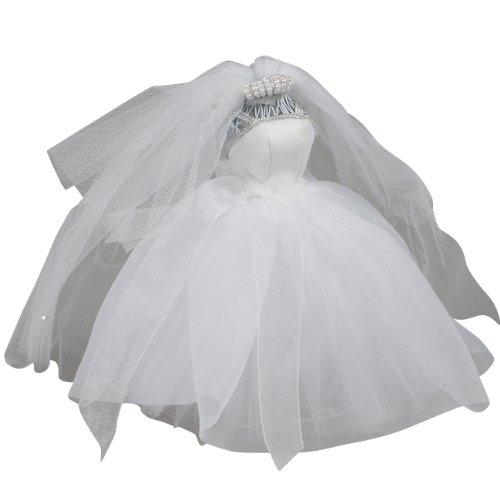 Ivy Lane Design Small Organza Dress Form, White