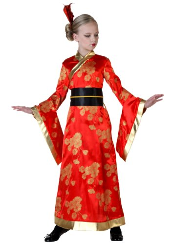 Costume Girl Black Geisha (Big Girls' Geisha Costume)