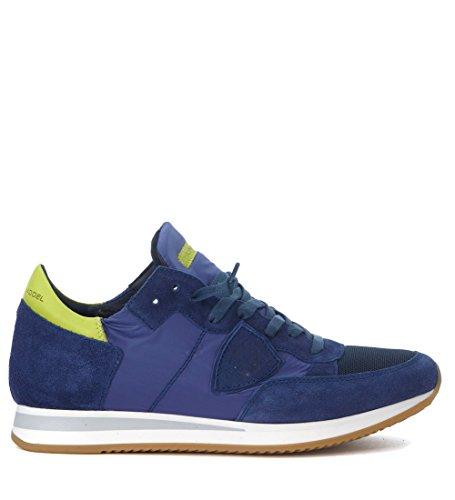 Philippe Modèle Mens Tropez Mondial Bleu Daim Sneaker Bleu