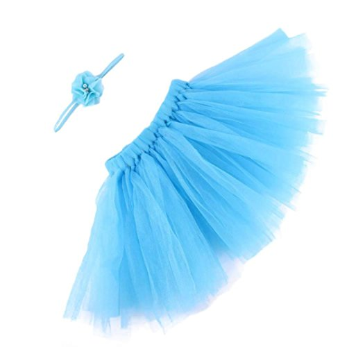 Plus Size Combat Girl Costumes (YJM Cute Newborn Baby Girls Boys Costume Photography Prop Clothes (Sky Blue))