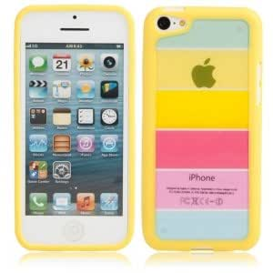 Rainbow Style Protective Case for iPhone 5C Yellow