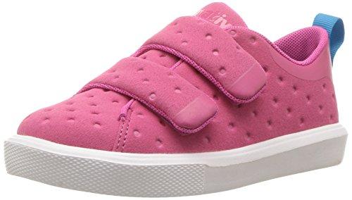 native Kids Girls' Monaco Velcro Child Sneaker, Hwdpnk/Shlwht, 10 M US Toddler