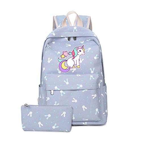 Women'S Cute Cartoon Unicorn Canvas Bag Travel Backpack by Boygirl