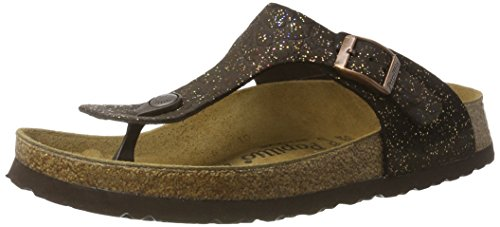Papillio Gizeh Leder, Chanclas para Mujer, Grace Brown Braun (Grace Brown)