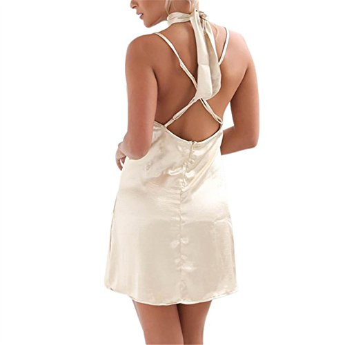 Women Dress Halter Sleep Pajama Slip Fashion Soft Short Dress Sexy White Lookatool OWrRcqr1