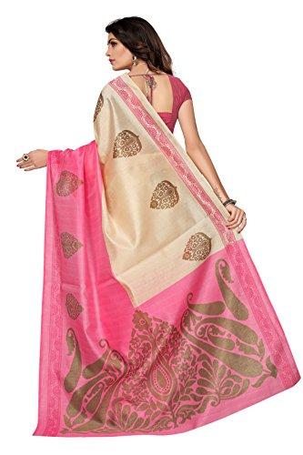 Jaanvi fashion Women's Bhagaluri Silk Paisley Printed Saree (Sai_pallavi_Pink) by Jaanvi fashion (Image #2)