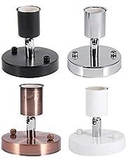 1 St E27 Verstelbare Wandlamp Lamphouder, Duurzaam 180 ° Roterende Moderne Vintage Plafondlamp Socket voor Office Bar Avondfeest Versieren(Zwart)