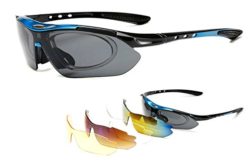 Polarized Sports Sunglasses for Men Women with 5 Interchangeable Lenses for Cycling Running Fishing - K&l Sunglasses