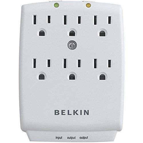 Belkin F9H620CW 6-Outlet Wall Mount Home Series Receptacles: 6 x NEMA 5-15R - 1 kJ by Belkin