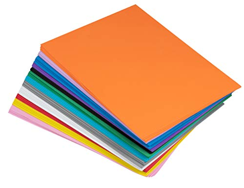 Foam Sheets - 96-Pack Foamie Sheets, EVA Foam Sheets, Foam Paper, Craft Foam, Colored Foam, for Classroom Project, Scrapbooking, DIY Art, Party, 12 Assorted Colors, 9 x 12 x 0.06 Inches]()