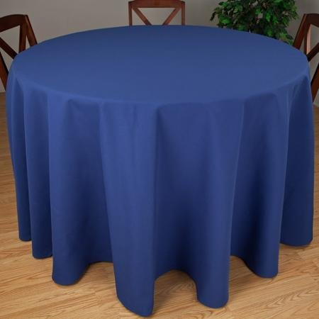 Riegel Premier Hotel Quality Tablecloth, 132'' Round, Royal by riegel