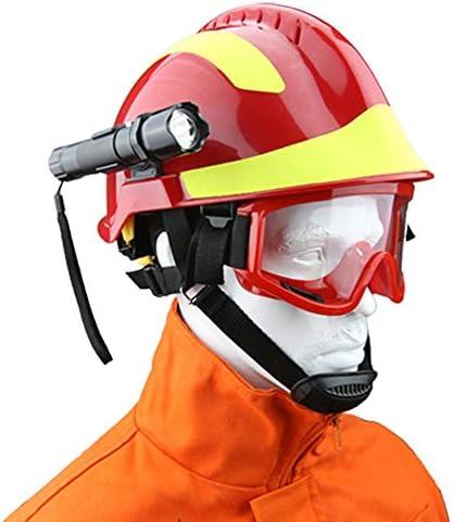成人用救助ヘルメットハード帽子、 地震救助保護用ヘルメットセットゴーグルと充電式懐中電灯が含まれています,男性と女性アウトドア保護ABS製ヘルメット