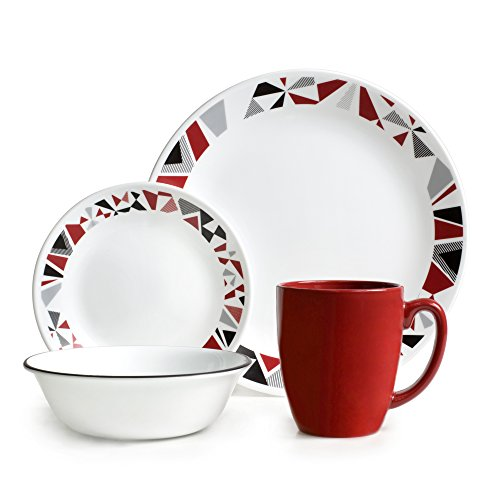Corelle Livingware Mosaic Red 16-pc Dinnerware Set