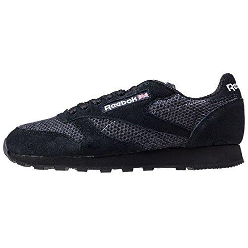 Leather Reebok Knit Classic Noir Chaussures CZH4BZRWq