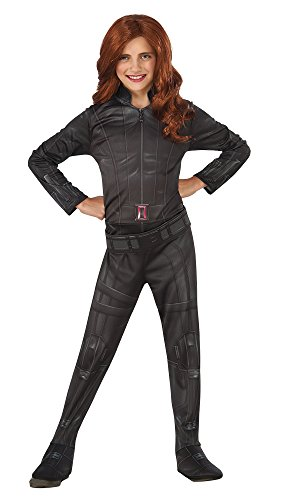 [Rubie's Costume Captain America: Civil War Black Widow Child Costume, Small] (Black Panther Costume Marvel)