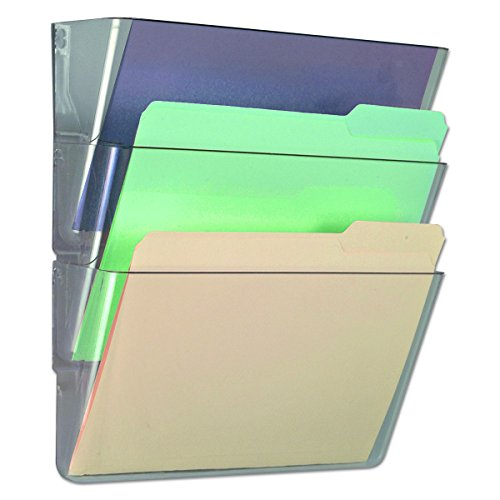 - Universal 53682 3 Pocket Wall File Starter Set, Letter, Clear