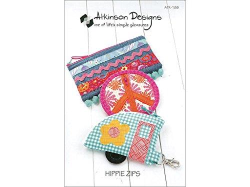 Atkinson Design Hippie Zips Ptrn Pattern