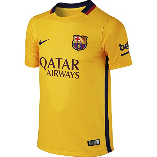 Nike Boys Barcelona Away Stadium Jersey [UNIVERSITY GOLD] (Small)