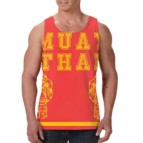 Fengyaojianzhu Muay Thai Thailand Kickboxing Men's Tank Top T-Shirt Retro Sleeveless Vest