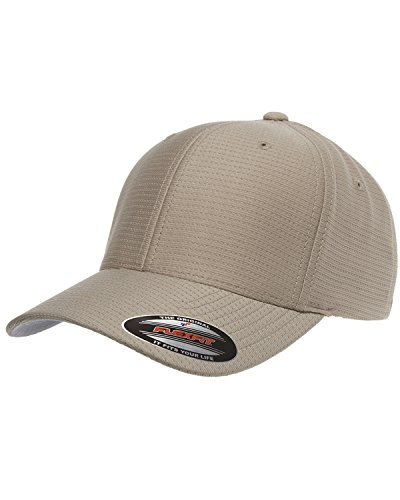Flexfit Cool & Dry Tricot 6-panel Structured Cap, KHAKI, One Size