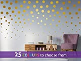 Set of 40 of 3 inch, 40 of 2 inch and 40 of 1 inch diameter POLKA DOTS, wall art sticker decal, small confetti dots, spots, for baby boys, girls nursery, beauty salon, GOLD (METALLIC MATT)