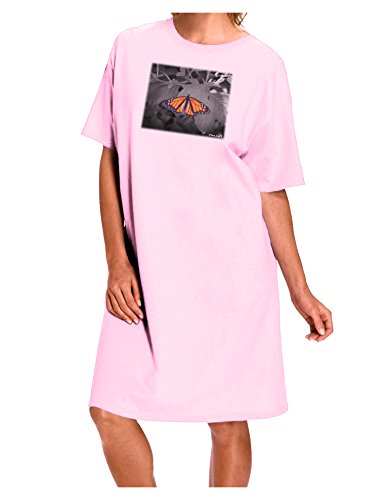 TooLoud Monarch Butterfly Photo Adult Night Shirt Dress - Pink - One Size ()