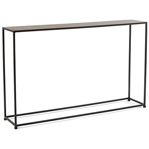 Tag Furnishings Group tag – Urban Narrow Console Table, A Perfect Addition to Any Home, Mild Steel Top with Coco Finish (48x10x29.5) For Sale