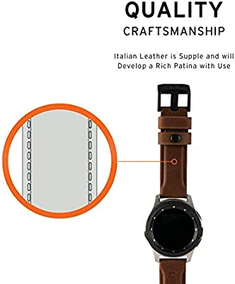 Urban Armor Gear Cuero Strap Correa Samsung Galaxy Watch 42mm, Galaxy Watch Active 1 / 2 40mm, Gear Sport (Diseñado para Samsung Smartwatches, Correa ...