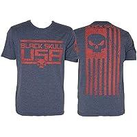 Camiseta American Flag - Black Skull