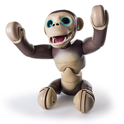 Zoomer Chimp with Voice Command, Movement and Sensors by Spin Master, Electronic Kid's Pet