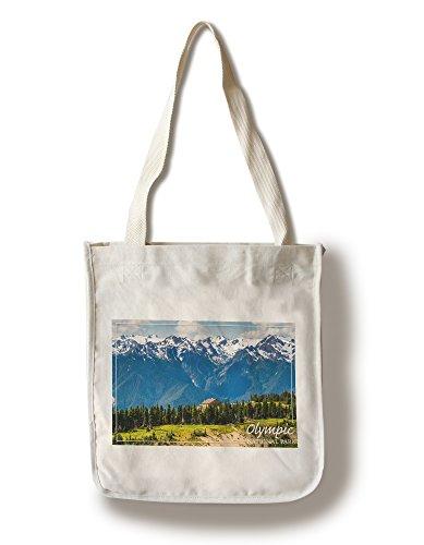 Lantern Press Olympic National Park - Hurricane Ridge Visitor Center (100% Cotton Tote Bag - Reusable)