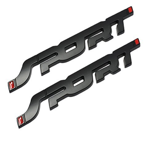 Ford Logo Decals - TK-KLZ 2Pcs 3D Metal SPORT Premium Car Side Fender Rear Trunk Emblem Badge Decals for JEEP BMW Dodge Mercedes Benz Chrysler Toyota Honda Nissan Kia Hyundai Chevrolet Ford (Black.)