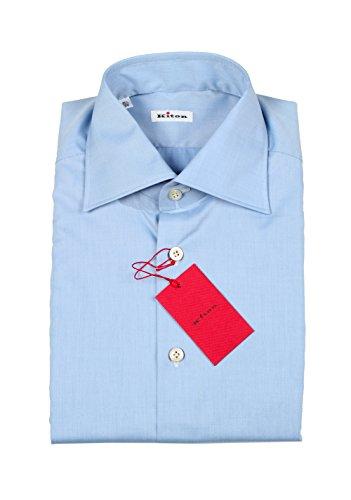 CL - Kiton Solid Blue Shirt Size 39 / 15,5 U.S.