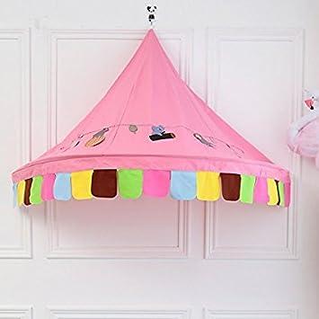 Anyshock Hanging Bedroom Wall Cozy Bed Canopy Indoor Princess Pink New Half-Room Design & Amazon.com: Anyshock Hanging Bedroom Wall Cozy Bed Canopy Indoor ...