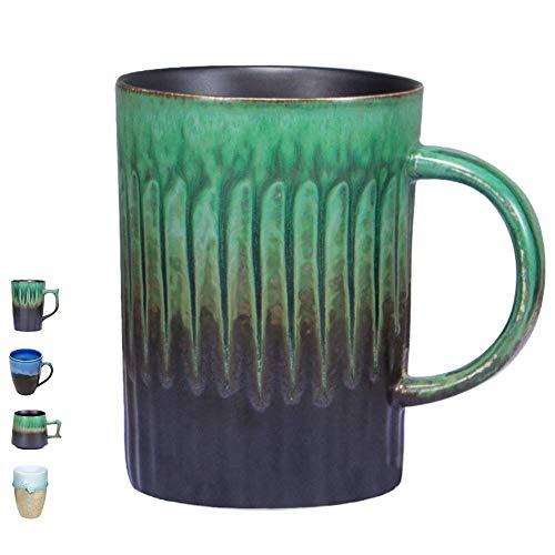 Handmade Pottery Coffee/Tea Mug Polish - 15oz Rustic Stoneware Ceramic Cup Clay Art by Oojdzoo - Gift for Father ()